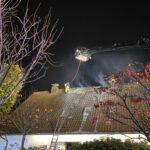 Dachstuhlbrand im Stadtteil Bärbroich von Bergisch Gladbach