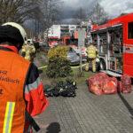 Die Einsatzstelle im Stadtteil Refrath von Bergisch Gladbach